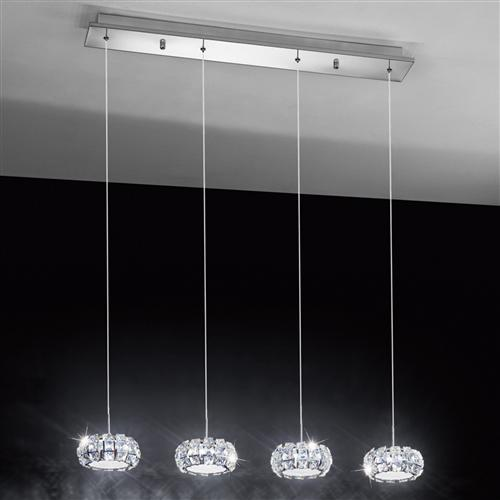 Corliano Four Light LED Crystal Pendant 39007