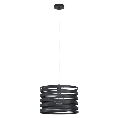 Cremella Large Black Steel Swirl Ceiling Fitting 99345