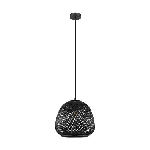 Dembleby 1 Black Wood Ceiling Pendant 43265