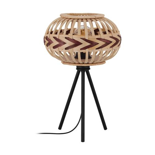 Dondarrion Black & Natural Wood Table Lamp 43274