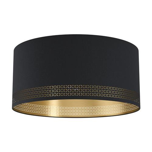Esteperra Black & Gold Cut Out Semi Flush Fitting 99272