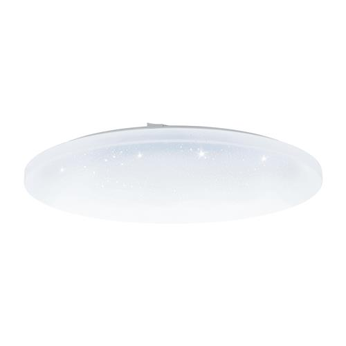 Frania-A Large LED Steel White Crystal Effect Flush Ceiling Light 98237