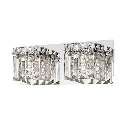 Fuertescusa Double Chrome Crystal Wall Light 98598