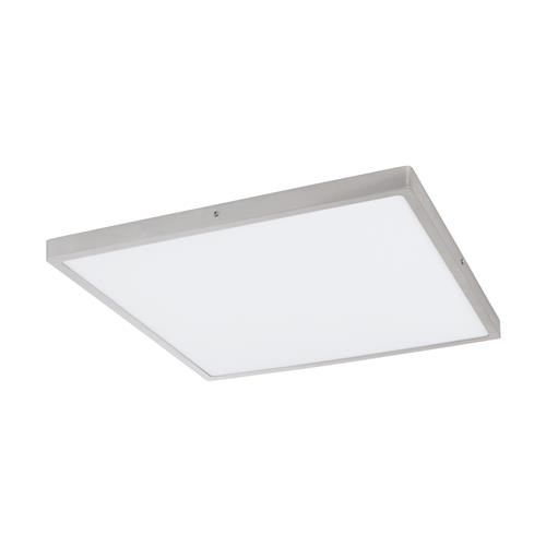 Fueva 1 LED 500mm Warm White Square Silver Flush Light 97274