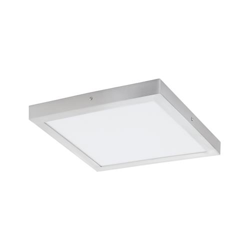 Fueva 1 Square Silver 400mm LED Ceiling Light 97265