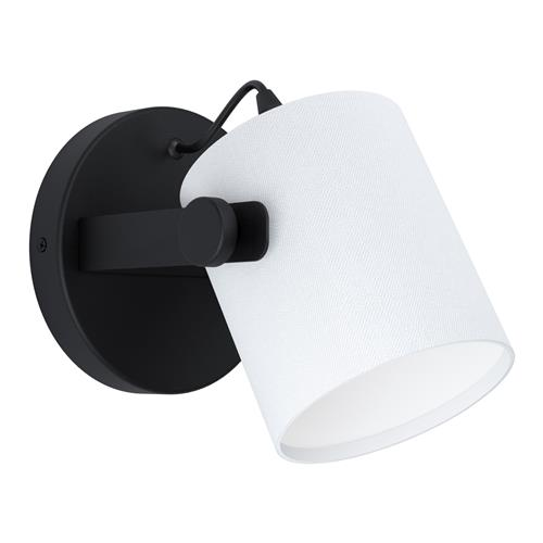 Hornwood 1 Black Single Wall Light 43427