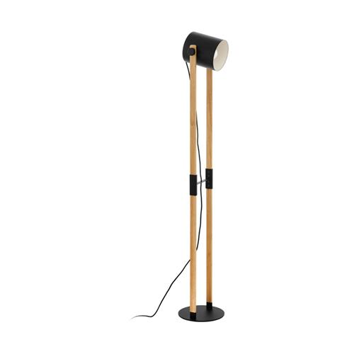 Hornwood Black/Brown Wood Floor Lamp 43048