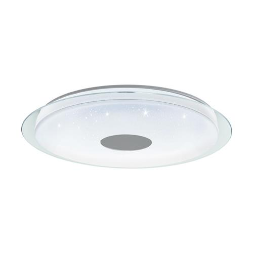 Lanciano-C Large White & Clear Glass LED Colour Changing Fitting 98769