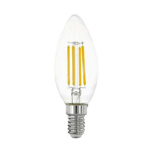 LED SES Warm White 6W 806 Lumens Clear Candle Lamp 12541