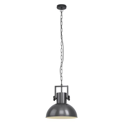 Lubenham 1 Single Antique Nickel Ceiling Pendant 43167