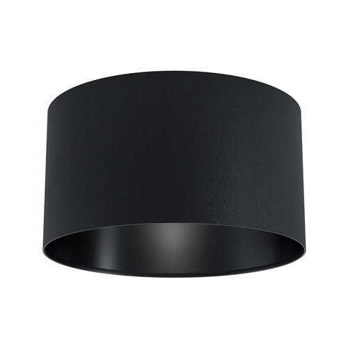 Maserlo 1 Black Cylinder Semi Flush Ceiling Fitting 99041