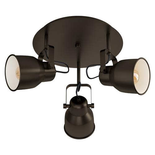 Mitchley Triple spotlight Dark Bronze & Cream 43388