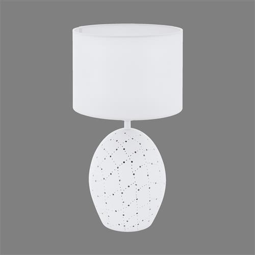 Montalbano Ceramic White Oval Table Lamp 98382