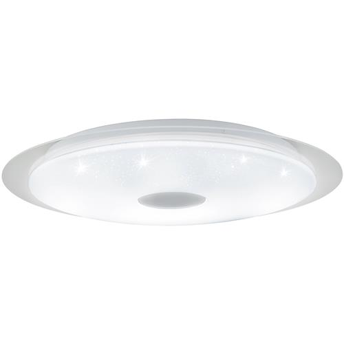 Moratica-A LED Small White Crystal Effect Flush Ceiling Light 98219