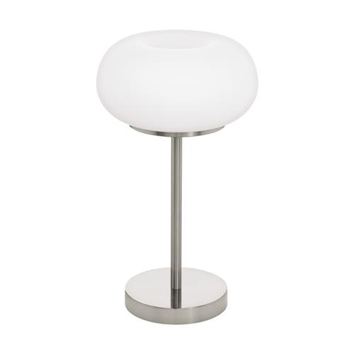 Optica-C LED Satin Nickel & White Glass Table Lamp 98658
