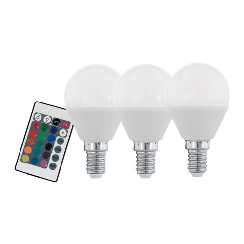 Pack Of Three RGB+W Dimmable SES LED 4W Golf Ball Lamps 10683