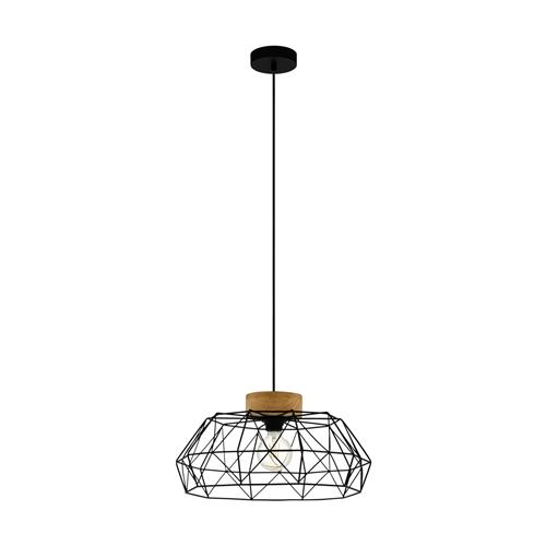 Padstow Black Ceiling Pendant 43364