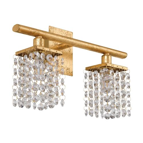 Pyton Gold LED Crystal Double Wall Light 97724