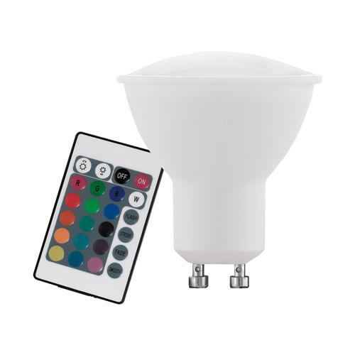 RGB+W Colour Changing 4W LED GU10 Lamp 10686