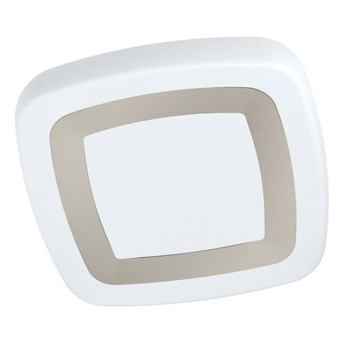 Ruidera LED White & Silver Square Ceiling Fitting 99109