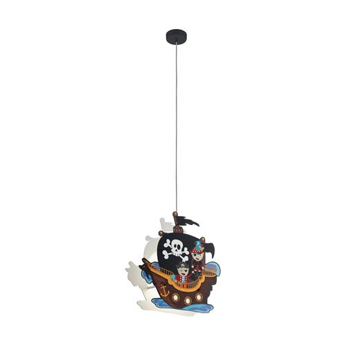San Carlo Childrens Pirate Themed Double Pendant Light 97409