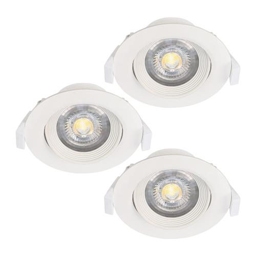 Sartiano Pack Of Three Adjustable Recessed LED Spotlights 32883