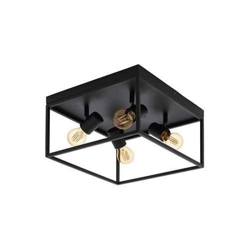 Silentina Black Four Lamp Ceiling Light 98334
