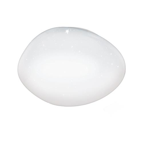 Sileras-A Large LED White Crystal Effect Ceiling Light 98228