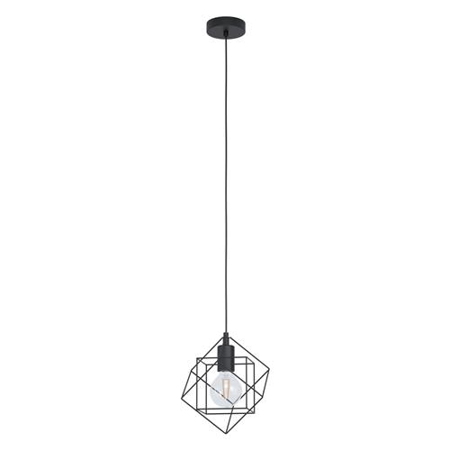 Straiton Medium Black Ceiling Pendant 43358