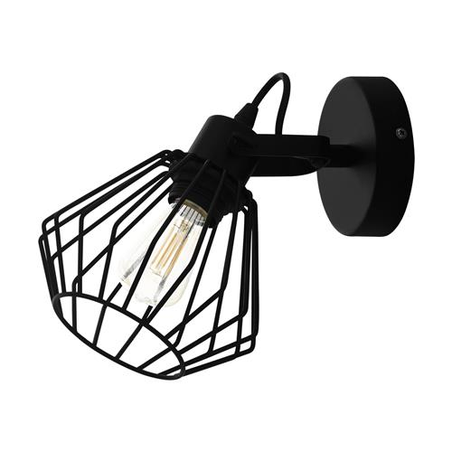 Tabillano Black Wire Adjustable Single Wall Spotlight 98762