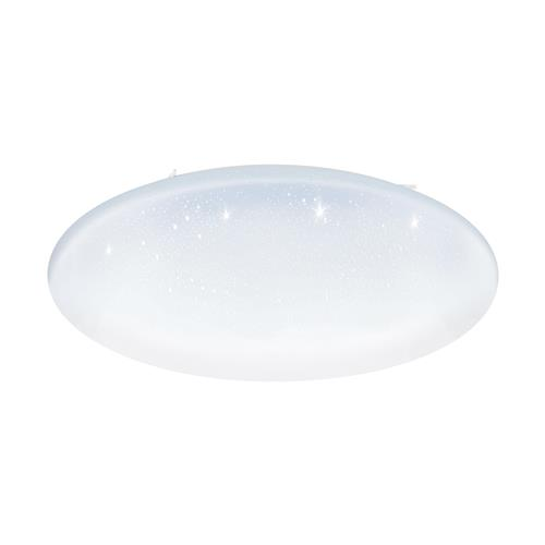 Totari-C Steel White Crystal Effect Flush Ceiling Light 98459