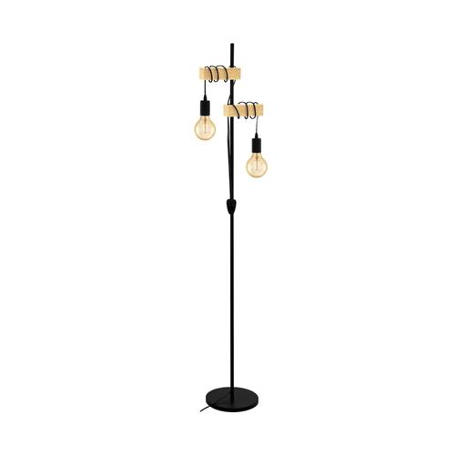 Townshend Black Steel/Wood Floor lamp 32919