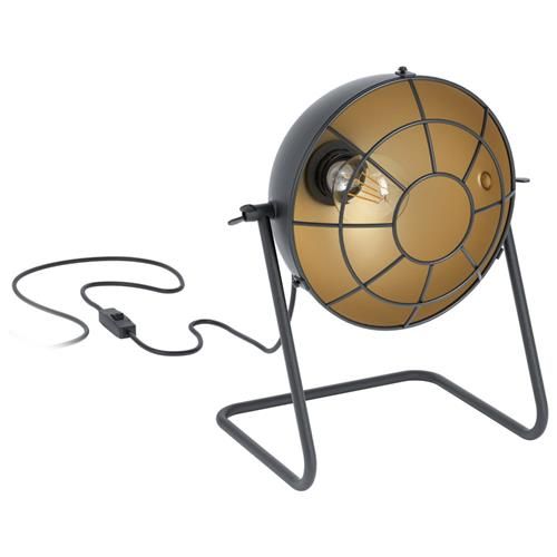 Treburley Black/Gold Desk Lamp 43185