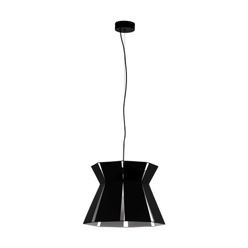 Valecrosia Black Steel Large Single Pendant Light 99081