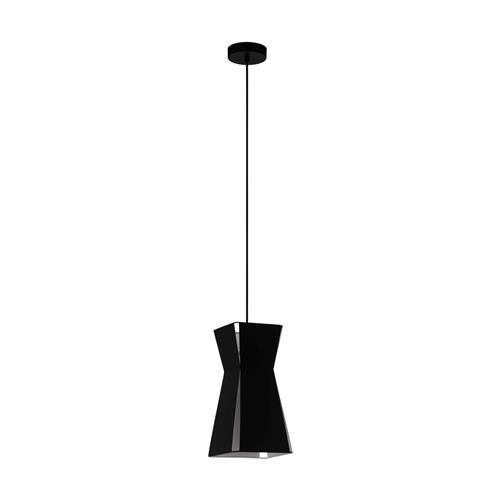 Valecrosia Black Steel Small Single Pendant Light 99082