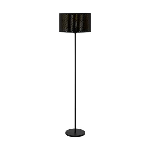 Varillas Steel fabric Black/Gold Floor Lamp 98315