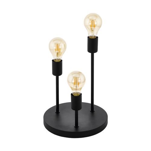 Wilmcote Black Three Light Table Lamp 43065