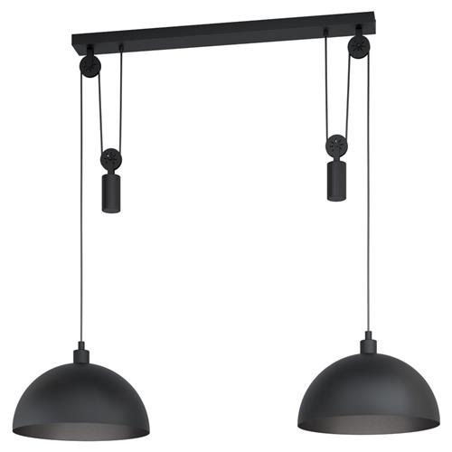 Winkworth 1 Double Rise and Fall Black Pendant 43436