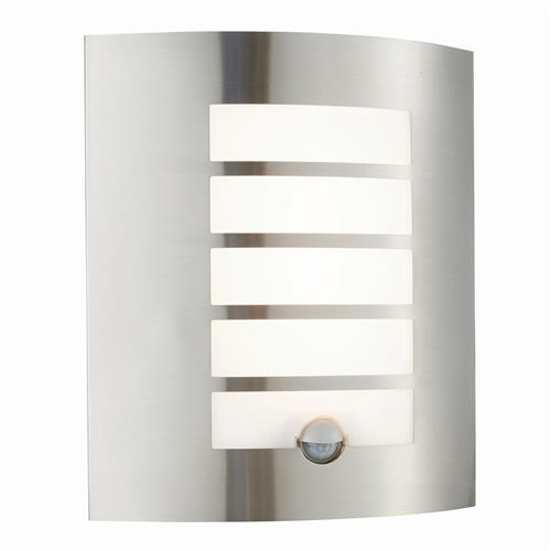 Bianco LED IP44 Stainless Steel PIR Wall Light 75931