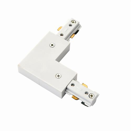 Track Right Angle White Connector 3TRAWL