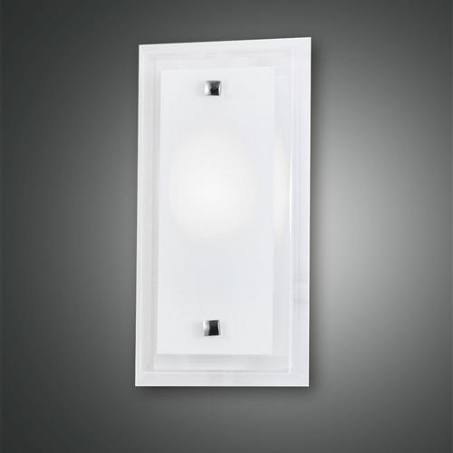 2957-22-102 Maggie Small Frosted Glass Rectangular Wall Light