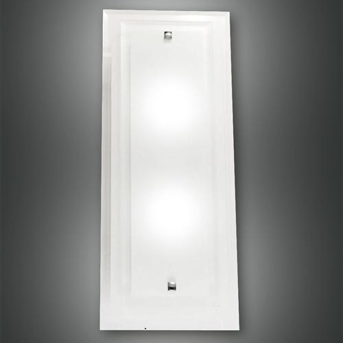 2957-26-102 Maggie Large Frosted Glass Rectangular Wall Light The Lighting Superstore