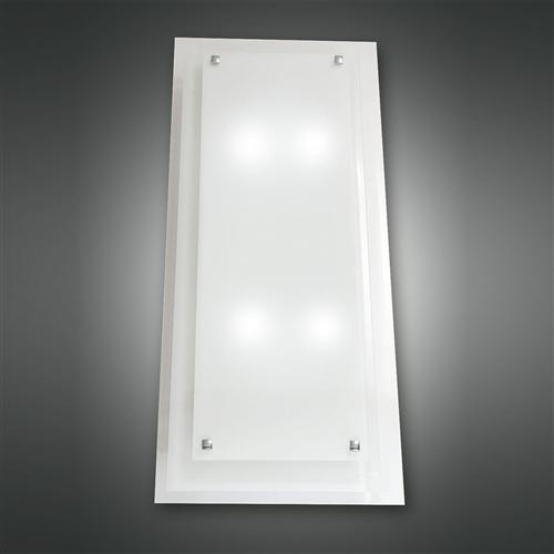 2957-66-102 Maggie Large Semi Flush Frosted Glass Ceiling Light