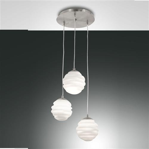 3290-47-178 Ava Satin Nickel Three Light pendant