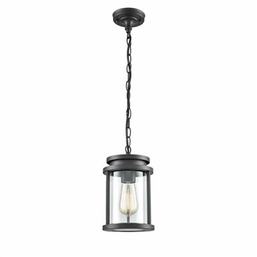 Fae IP44 ChFaeloal Grey Outdoor Ceiling pendant OUW6622