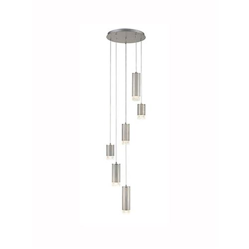 Catisa Dimmable Brushed Silver 6 Light Ceiling Pendant TP2441-6