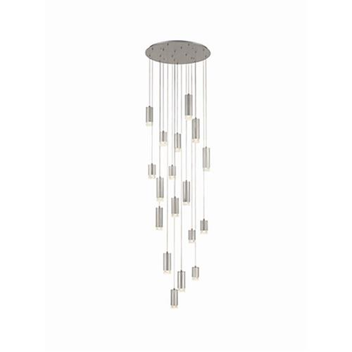 Catisa Dimmable Brushed Silver 18 Light Ceiling Pendant TP2441-18