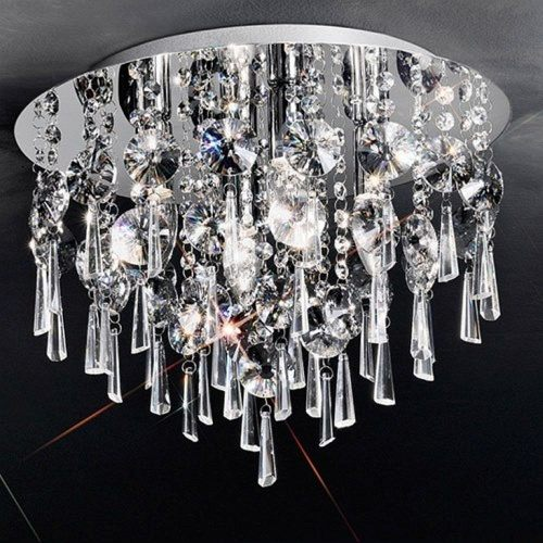 Samara Small Flush Crystal Ceiling Light KT5716