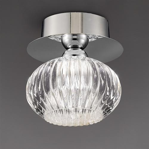 Penrose Single Globe Semi Flush Ceiling Light KT5749