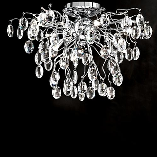 FL2326/8 Wisteria LED Crystal Semi Flush